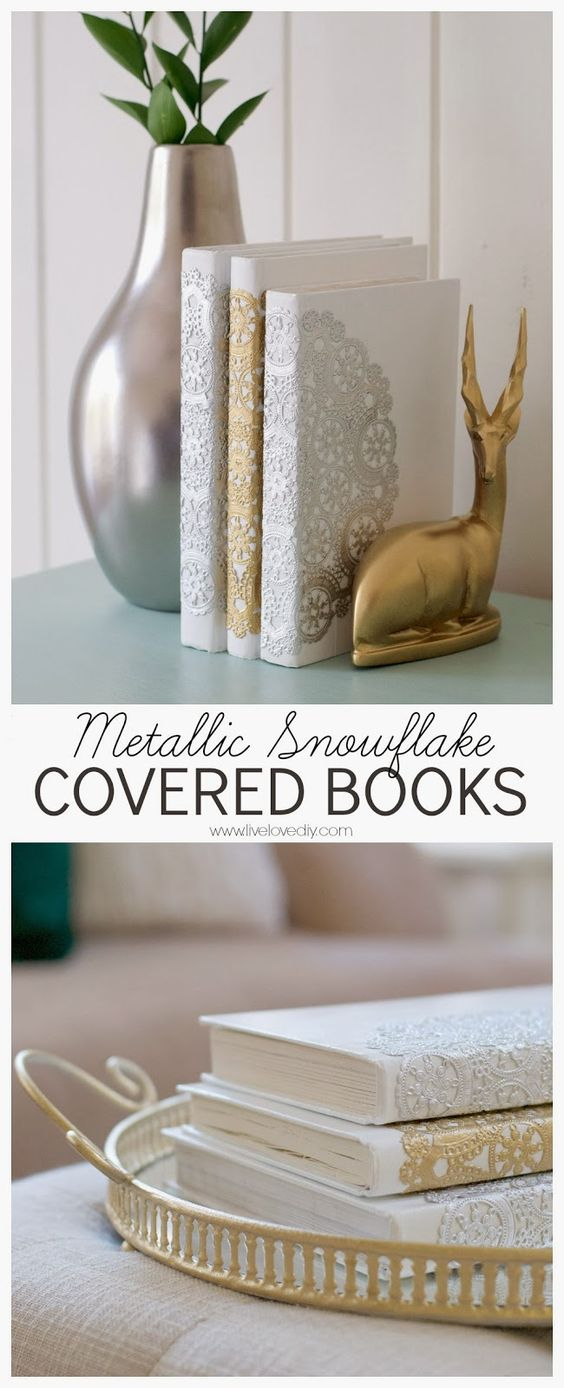Diy Lace Book Cover ~ Easy ways to upcycle and decorate with vintage books