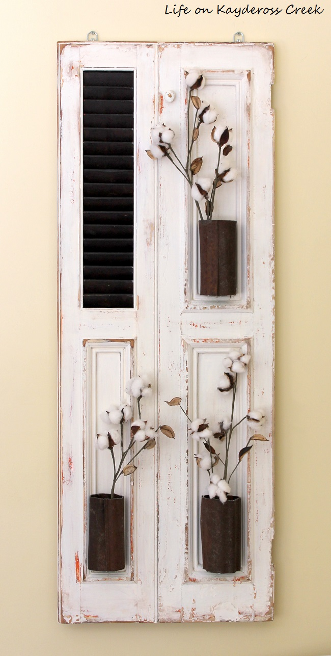 Farmhouse wall decor old shutter turn fixer upper style wall decor life on kaydeross