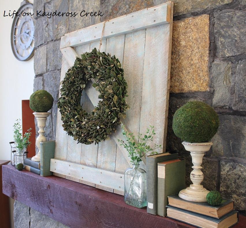 Spring Decor - Making a mini barn door - Life on Kaydeross Creek