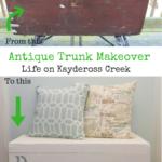 Antique Trunk Makeover