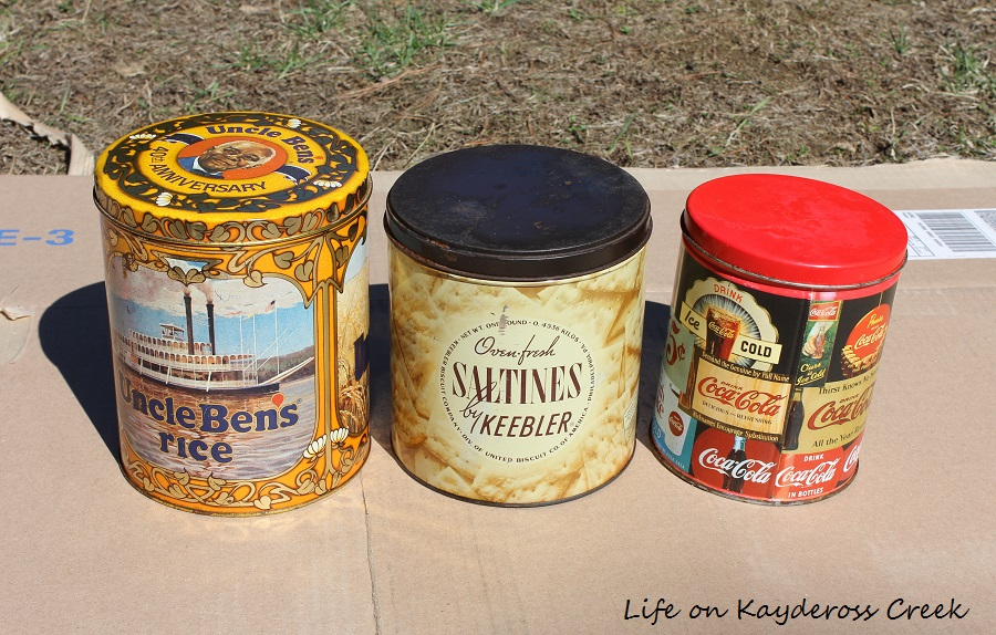 Farmhouse Canister Set Style Upcycled Tins Life On Kaydeross Creek