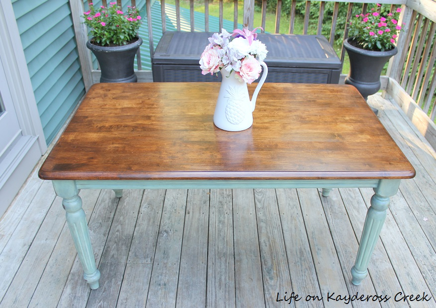 Thrift Store Table Makeover   Color Wash Paint Technique With Antique Wax  And Stain Completed