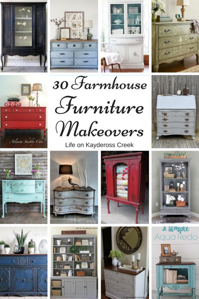 30 farmhouse furniture makeovers