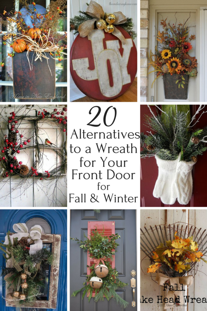 20 Creative Alternatives To A Front Door Wreath For Fall Winter