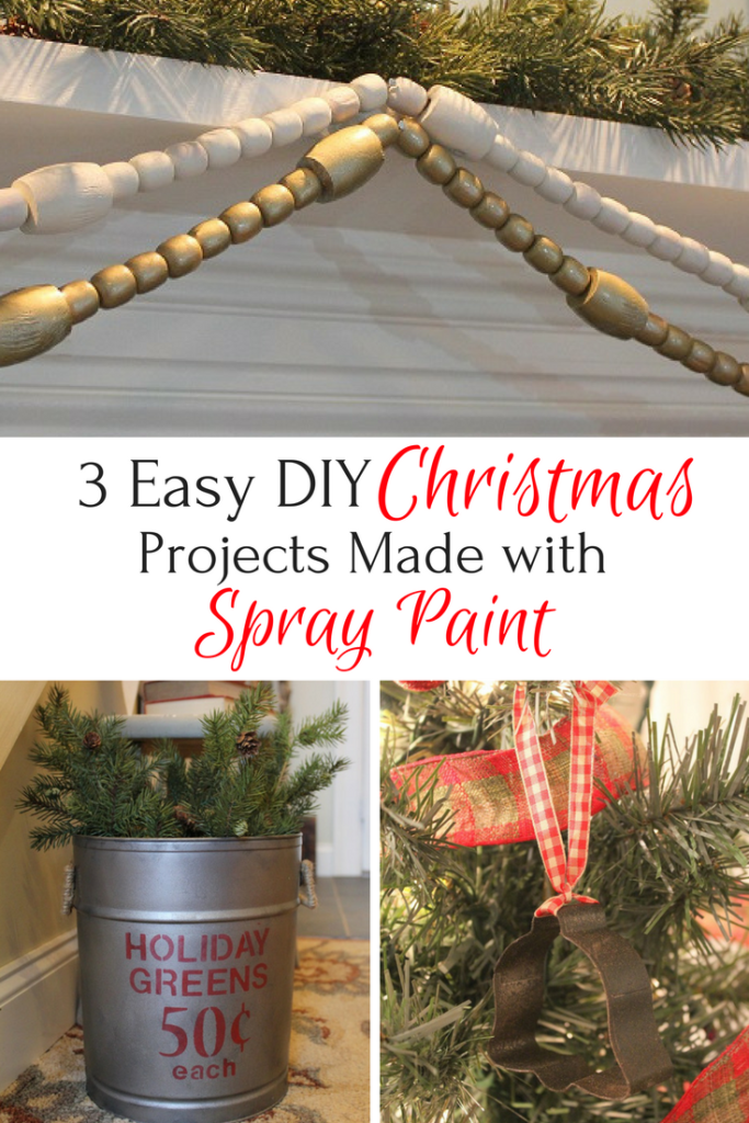 3 Easy DIY Christmas Decor Projects Using Sprary Paint - Life on Kaydeross Creek