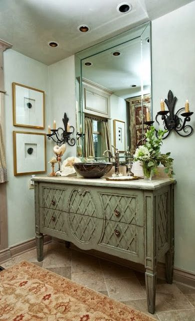 25 unique bathroom vanities made from furniture life on - What can i use to unclog my bathroom sink ...
