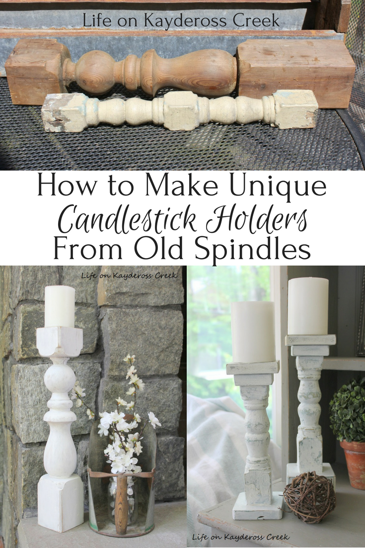 How to make Unique Candlestick Holders - farmhouse - Life on Kaydeross Creek