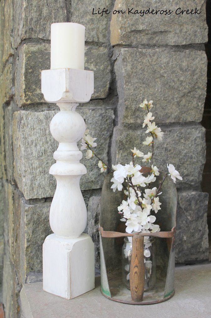 How to make candlestick holders from old spindles - farmhouse - from Life on Kaydeross Creek