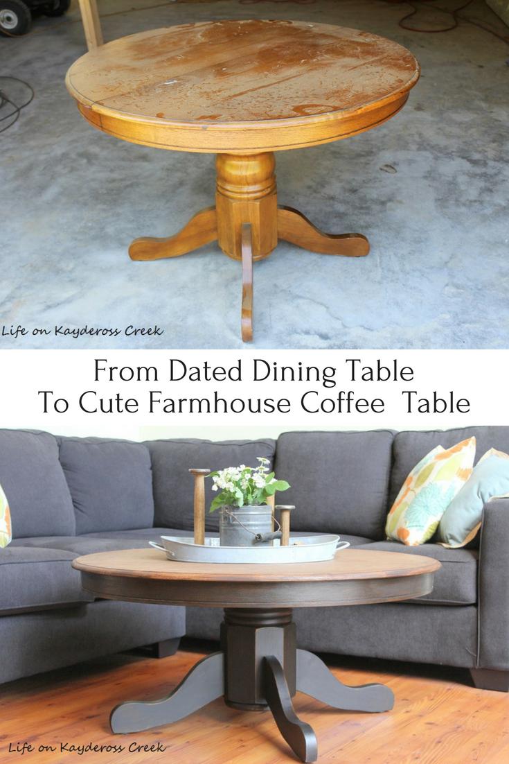 DIY Round Farmhouse Coffee Table - Life on Kaydeross Creek
