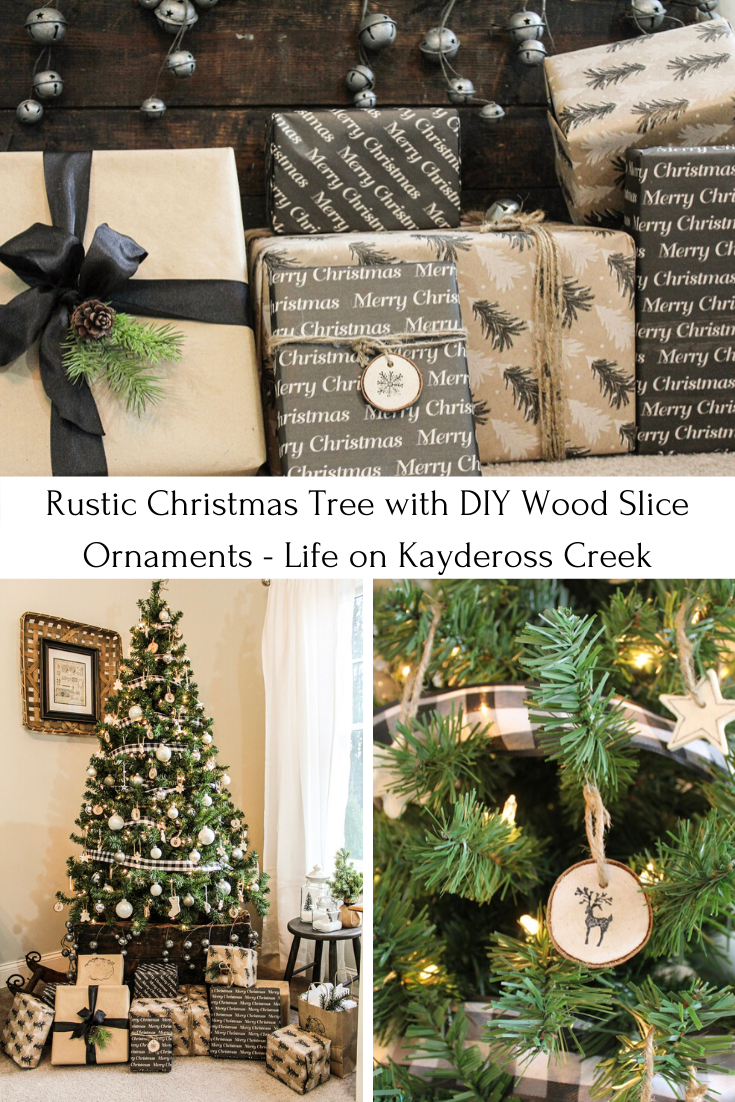 How To Make Diy Wood Slice Ornaments Life On Kaydeross Creek