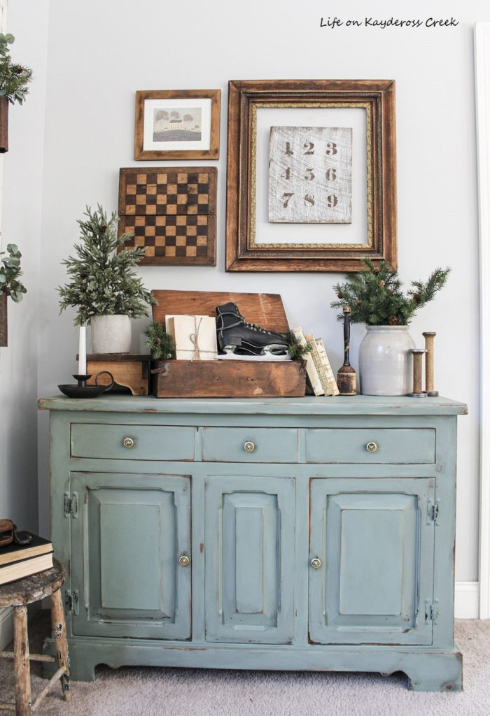 Diy Farmhouse Buffet Makeover With, How To Chalk Paint Furniture Distressed